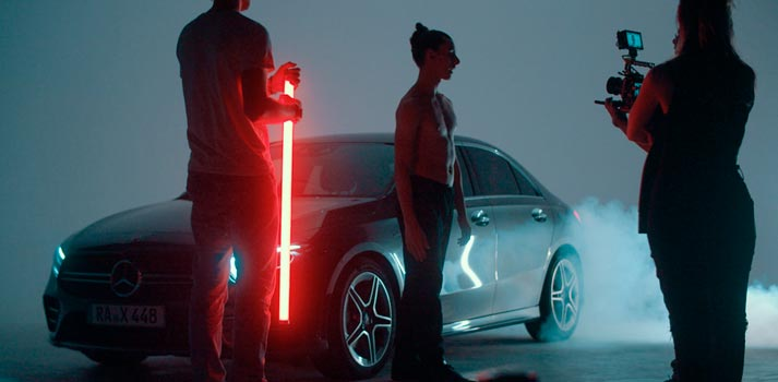 Cámara de Blackmagic Design empleada para el rodaje del último spot de Mercedes
