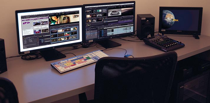 Sala de edición de vídeo en las instalaciones de Videe España