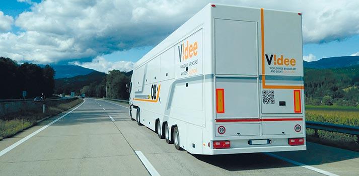Una de las unidades móviles de Videe para producciones