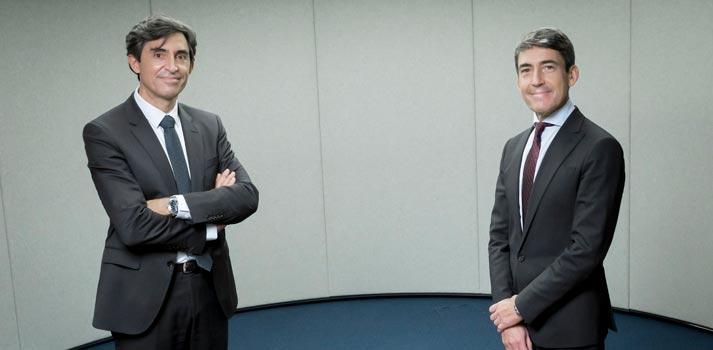 César Cid de Arca y Domingo Mirón de Accenture - Fotografía acuerdo noviembre 2020