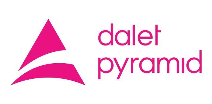 Logotipo de Dalet Pyramid, producto que estrena la identidad 2020 de la marca