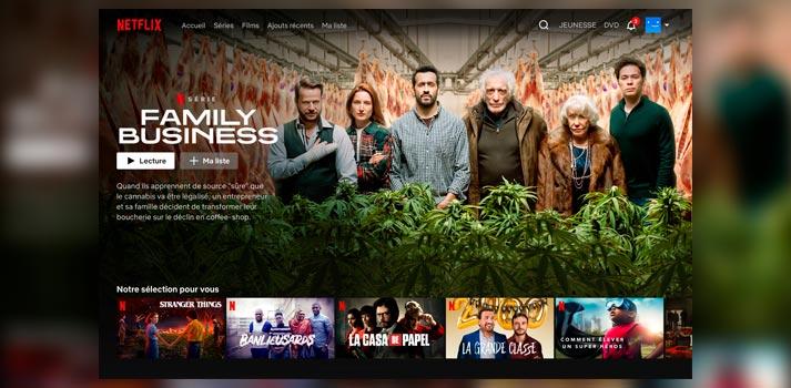 Interfaz de usuario de Netflix Francia