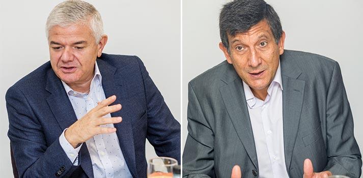 Jesús García y José Luis San Martín de RTVE en el Desayuno Informativo de TM Broadcast