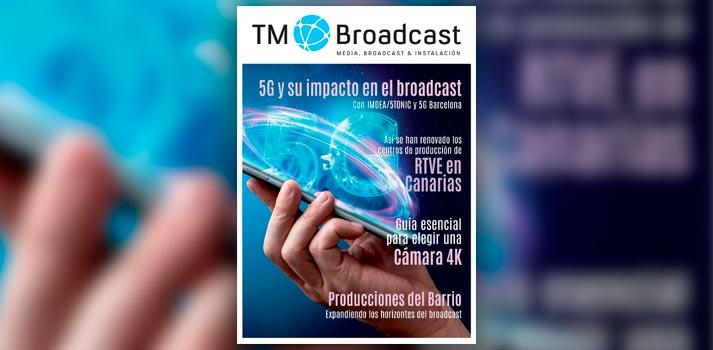 Portada del número 136 de la revista TM Broadcast