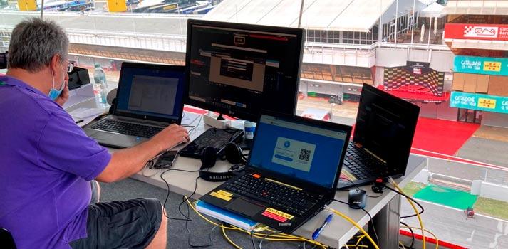 Test de tecnología 5G desarrollado por TV3 en el Circuit de Catalunya