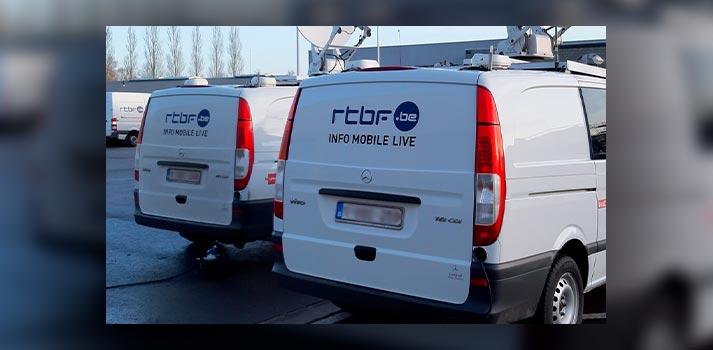 Unidades móviles de RTBF equipadas con equipos de Aviwest