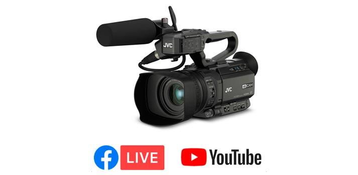 Cámara GY-HM250 de JVC Professional, la cual ahora incluye nuevas capacidades de streaming