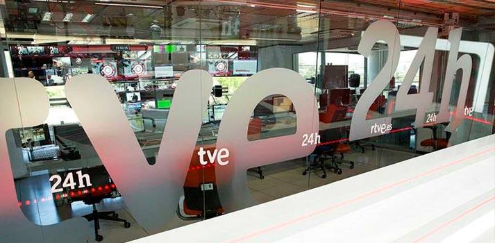 Control del canal 24 horas de RTVE