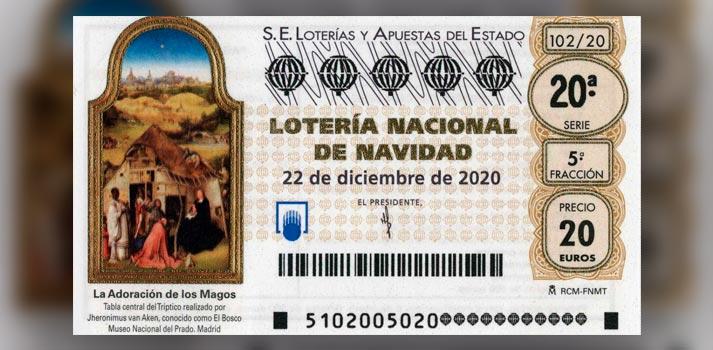 Cupón de Lotería de Navidad 2020
