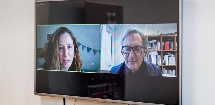 Participantes del Desayuno Informativo TM Broadcast conectados a través de Videoconferencia
