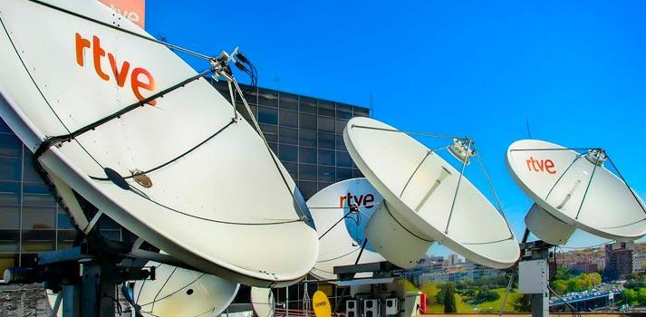 Satélites, parte de una de las instalaciones de RTVE