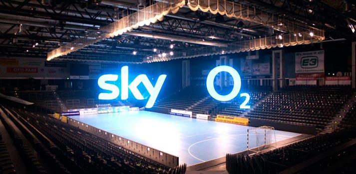 Producción de balonmano con tecnología 5G promovida por Sky y O2