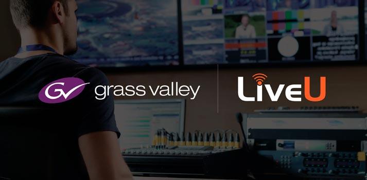 Logos de Grass Valley y LiveU