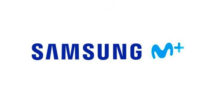 Logo de Movistar+ y Samsung