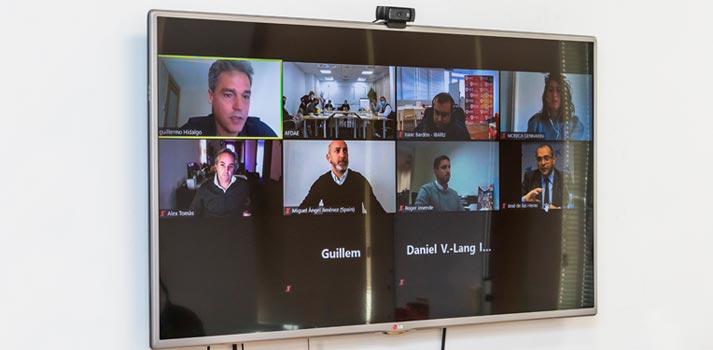 La reunión de AFDAE también contó con la participación de empresas a través de videoconferencia