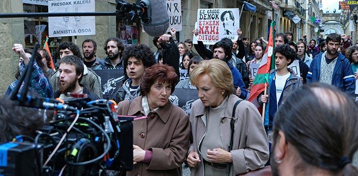 Rodaje de Patria, producción para HBO de Alea Media. Foto: David Herranz