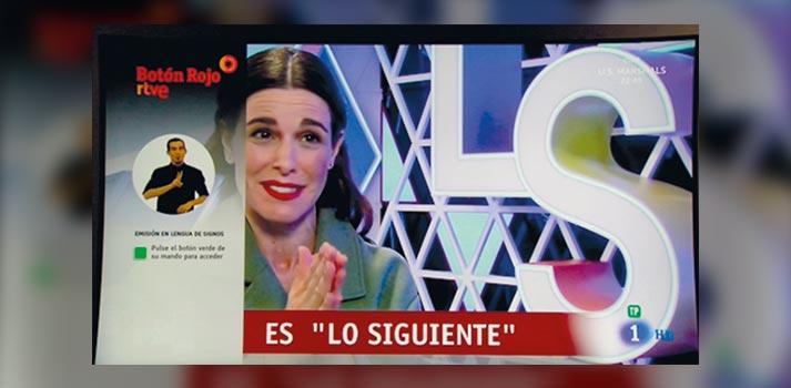 Figura 2. Aplicación HbbTV de TVE para lengua de signos en modo cerrado en programas en directo