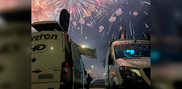 Equipos de Overon desplazada en la cobertura de Fin de Año 2020