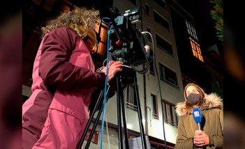 Un ejemplo de la cobertura en directo por parte de Videoreport para TPA con mochilas de trasmisión