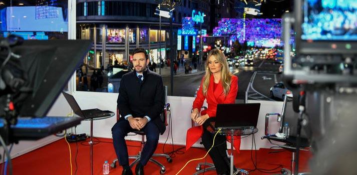 Una de las producciones informativas en directo llevadas a cabo por Telemadrid en 2021
