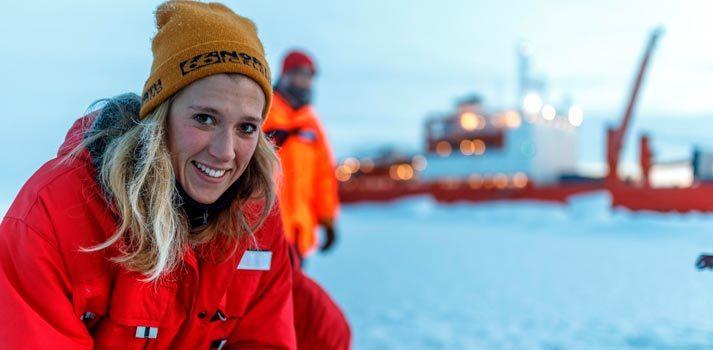 Expedición al ártico grabada con equipos de Sennheiser. Foto: Mario Hoppmann