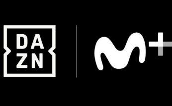 Logotipos de la plataforma streaming DAZN y Movistar+
