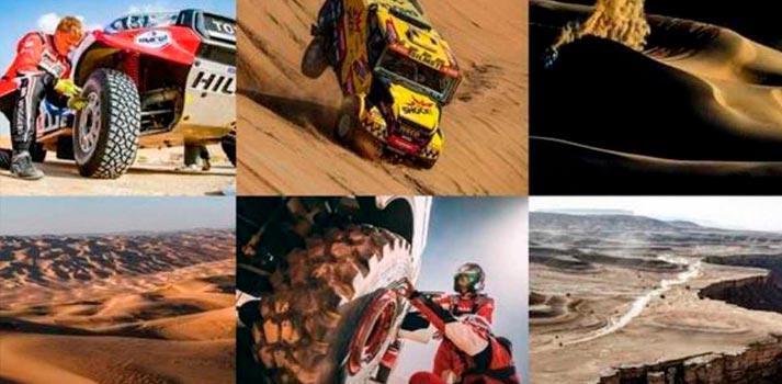 Collage con imágenes del Rally Dakar - RTVE