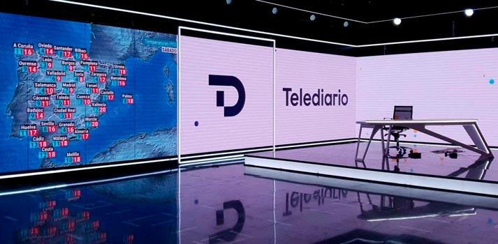 Plato de informativos renovado de RTVE