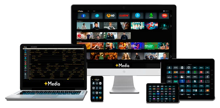 Plataforma Masmedia TV en diferentes dispositivos