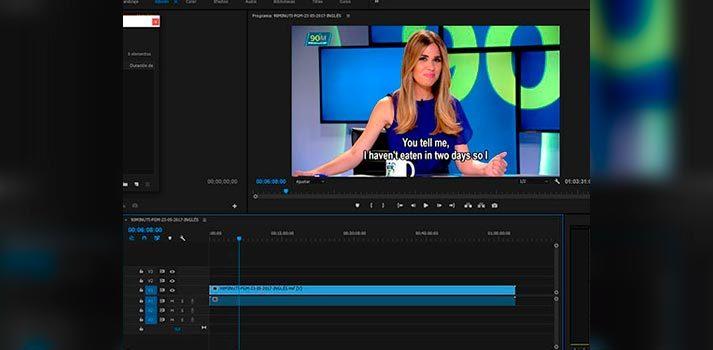 Software empleado para la subtitulación por Mediasur