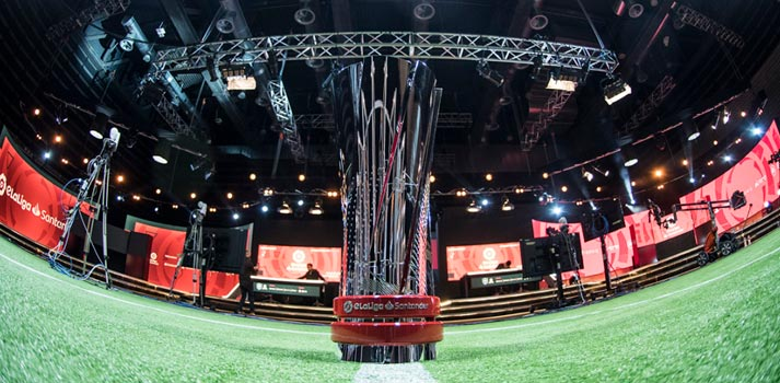Plató de las competiciones de la eLaLiga Movistar+