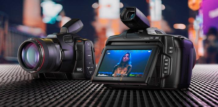 Imagen promocional de la nueva cámara Blackmagic Pocket Cinema Camera 6K Pro