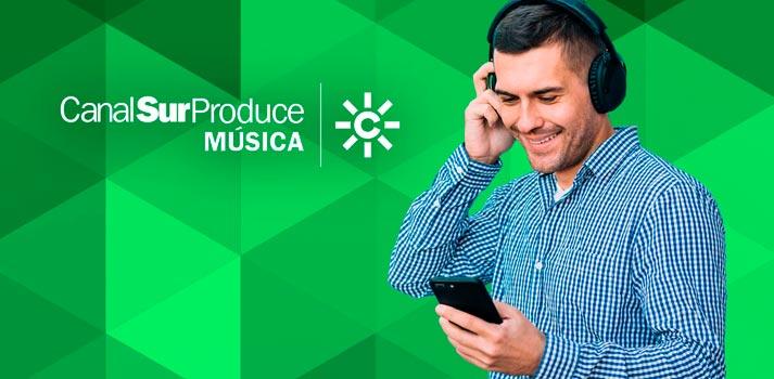 Imagen promocional de la iniciativa Canal Sur Produce Música