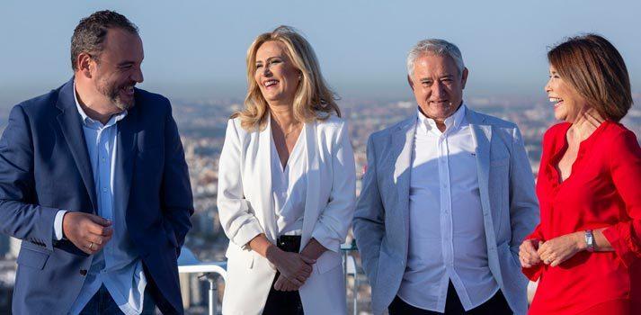 Algunos de los presentadores de diferentes formatos de Onda Madrid