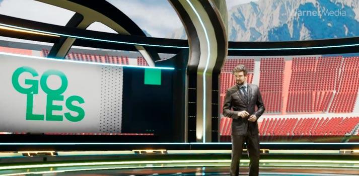 Plató virtual de Warner Media para Argentina y Chile creado con tecnología de Brainstorm