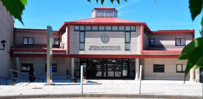 Uno de los edificios que forman parte de la Universidade de Vigo