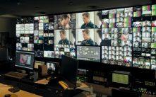 Sala de control en uno de los edificios de producción de la televisión Argentina Telefe