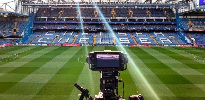 Camara 8K captando vídeo para emisión de BT Sport