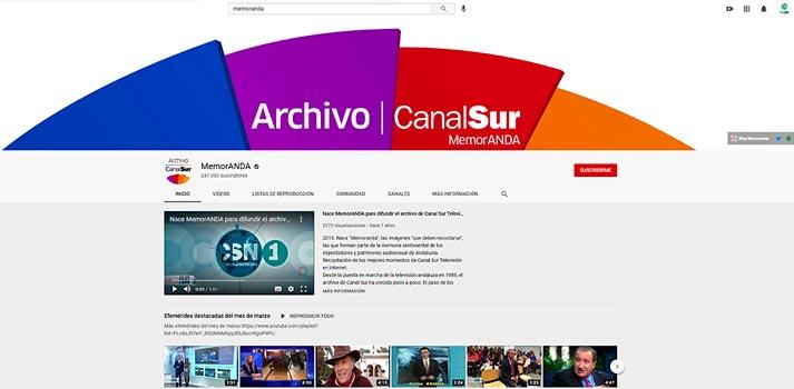 Canal de Youtube MemorANDA de CanalSur