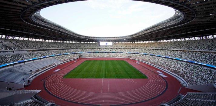 Imagen panorámica del estadio de los Juegos Olímpicos de Tokyo 2020