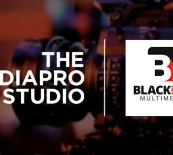 Logotipos de The Mediapro Studio y Blackbox Multimedia