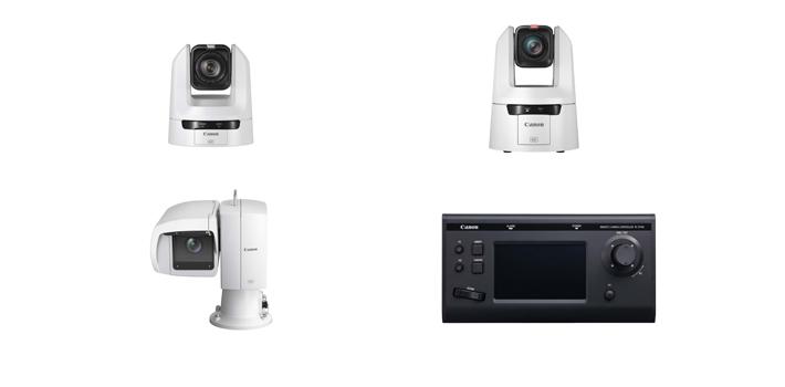 Los tres nuevos modelos PTZ y controlador de Canon