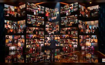 Conjunto de conexiones en directo en la gala de los Goya 2021