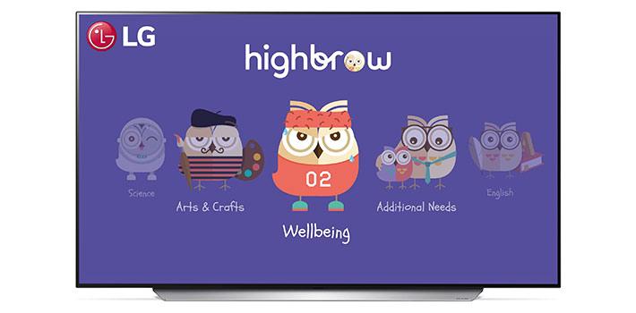 La plataforma infantil Highbrow disponible en las pantallas LG